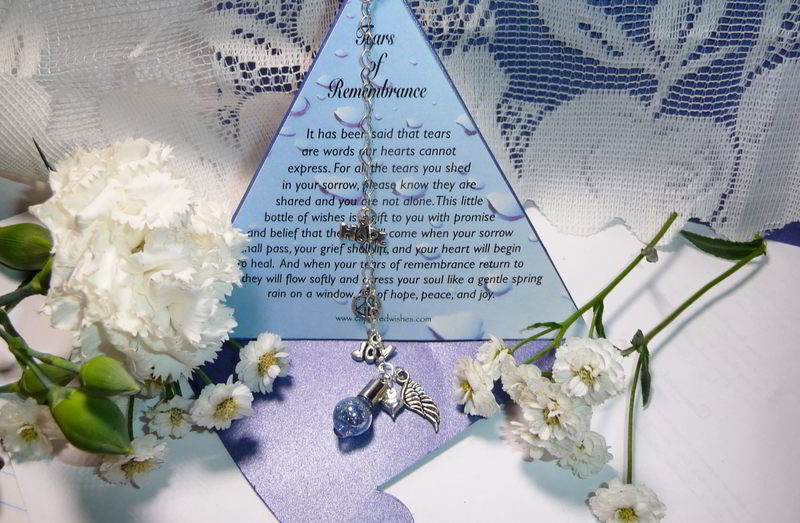 Tears of Remembrancc gift package displayed in traingular shape