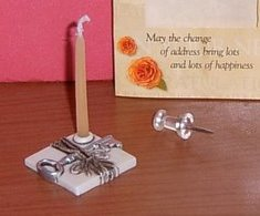 miniature housewarming candle