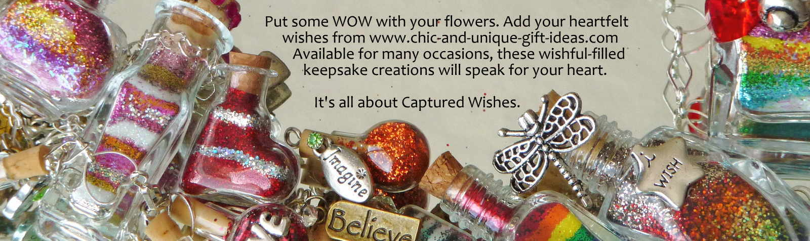 Add some wow with your flowers - click to www.chic-and-unique-gift-ideas.com CAPTURED WISHES!