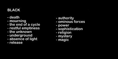 black color meanings and symbolism